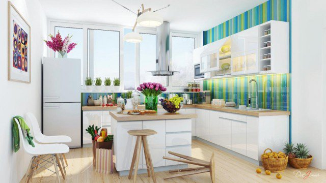 Colorful Kitchen Design
