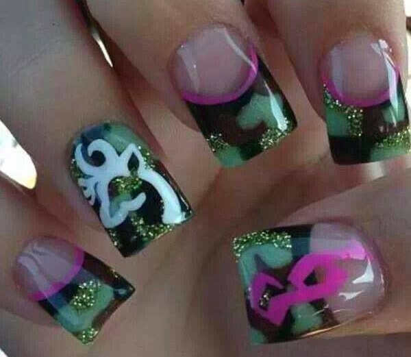 Cool Camouflage Nail Design - 13 Pretty Camouflage Nail Designs - Pretty Designs