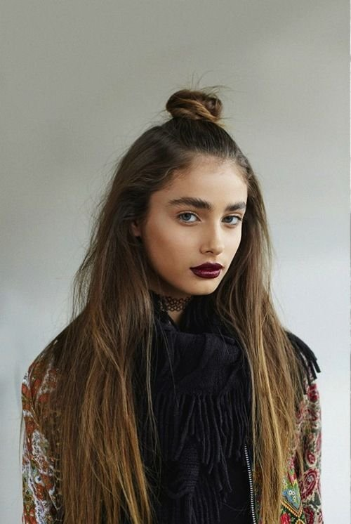 Cute Half Bun Hairstyle