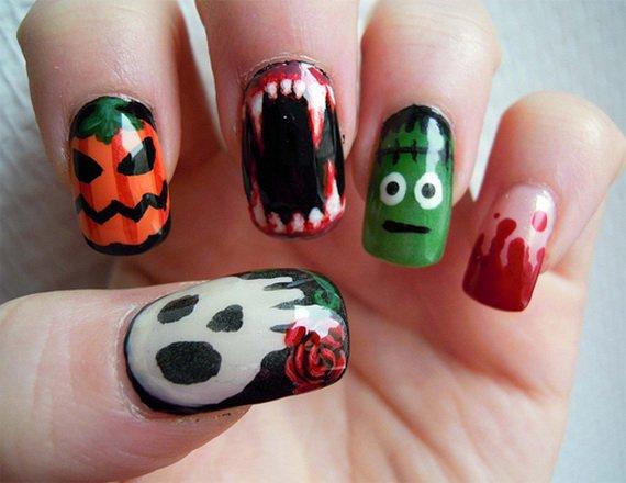 Cute Halloween Nail Design