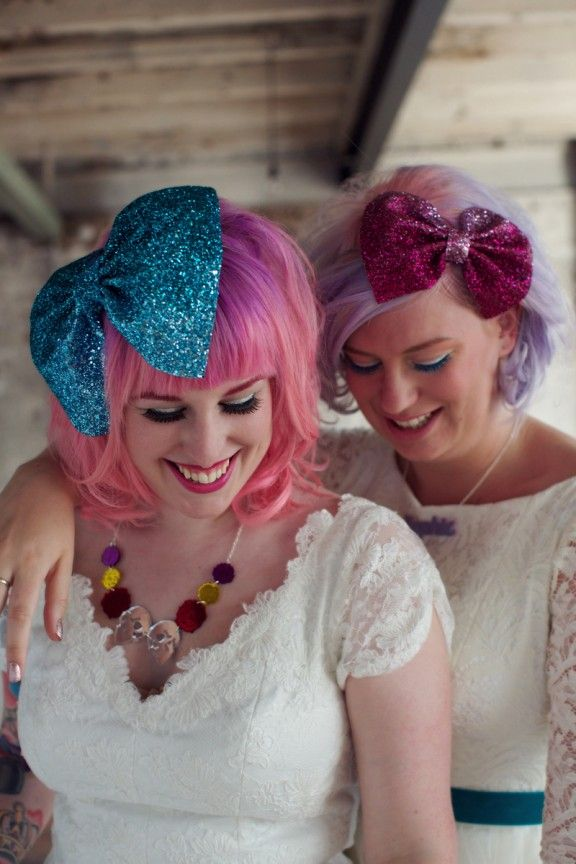 Cute Ombre Hair Color Idea for Brides