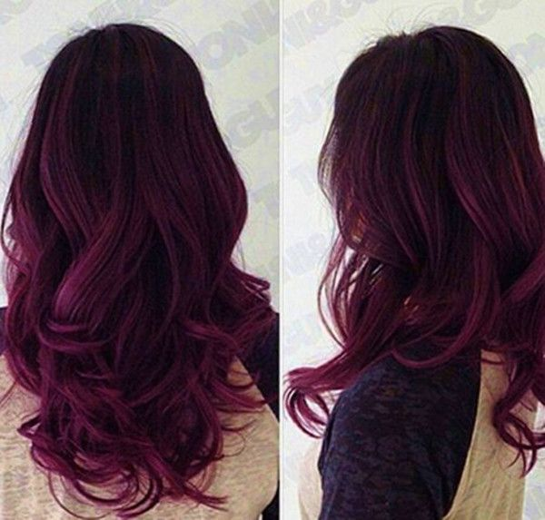 Darkest plum brown hair color