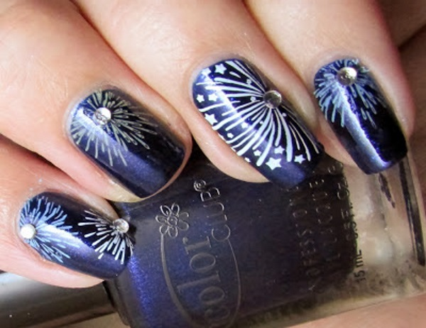 Fireworks Nail Design Choice Image Easy Nail Designs For Beginners