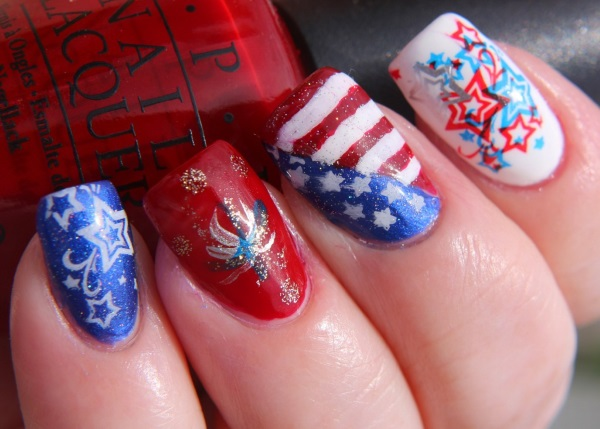 23 Terrific Fireworks Nail Designs Pretty Designs