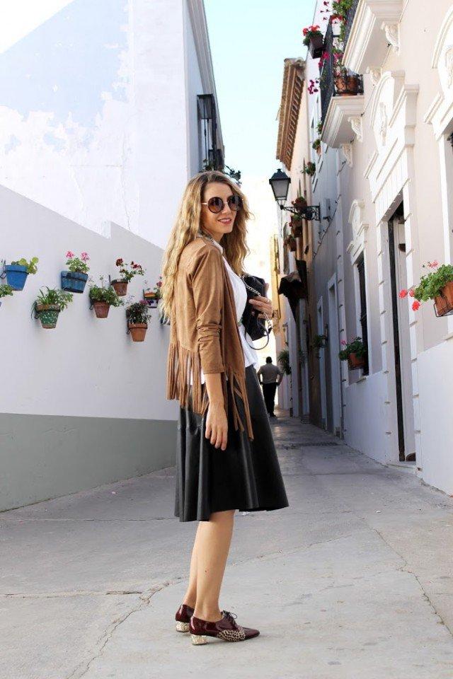 Fringe Shawl with Skirt