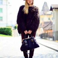 Fur Coat with Hat