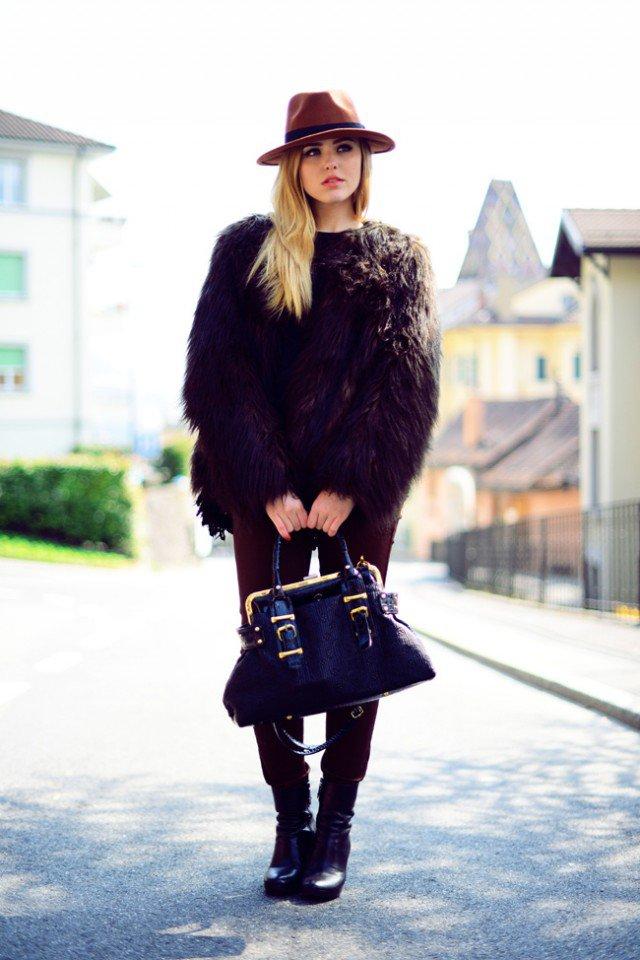 Fur Coat with Hat