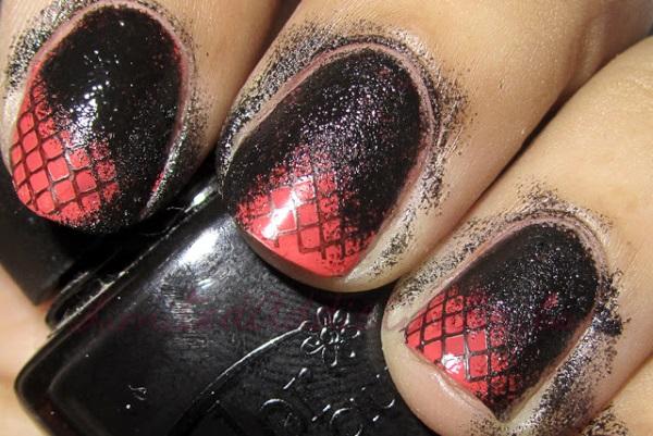 Glamorous Fishnet Nail Design