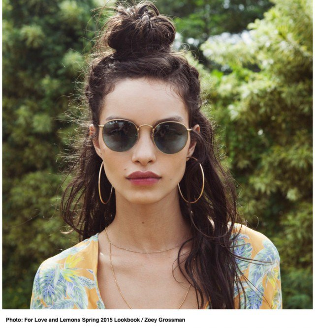 Glamorous Half Bun Hairstyle