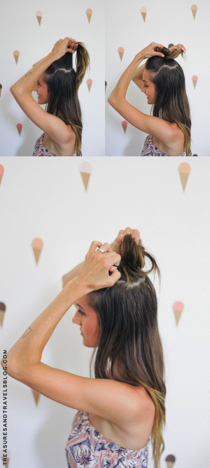 Half Bun Hairstyle Tutorial