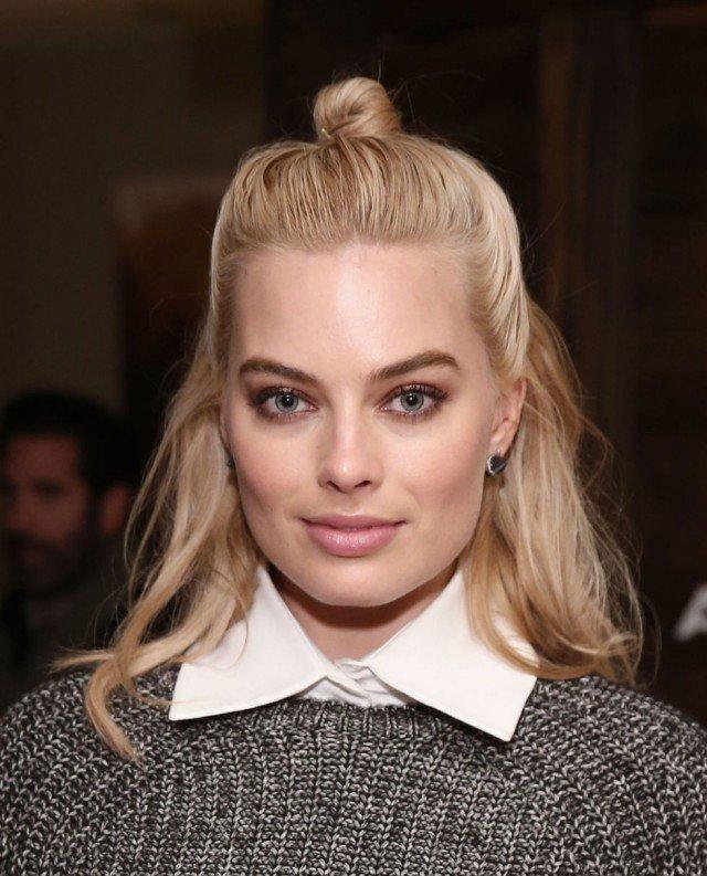 Half Bun Hairstyle for Blond Hair