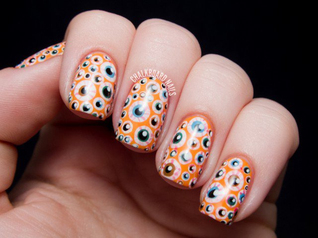 Halloween Nail Design - Eyeballs