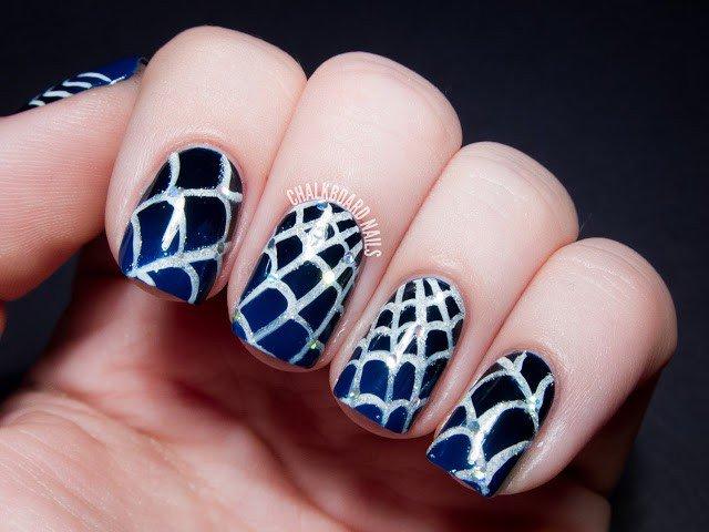 Halloween Nail Design - Spiderweb