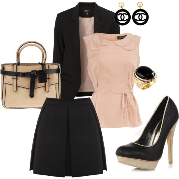 Light Pink and Black Outfit