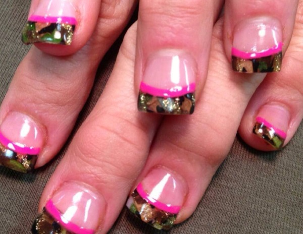 Lovely Camouflage Nail Design - 13 Pretty Camouflage Nail Designs - Pretty Designs