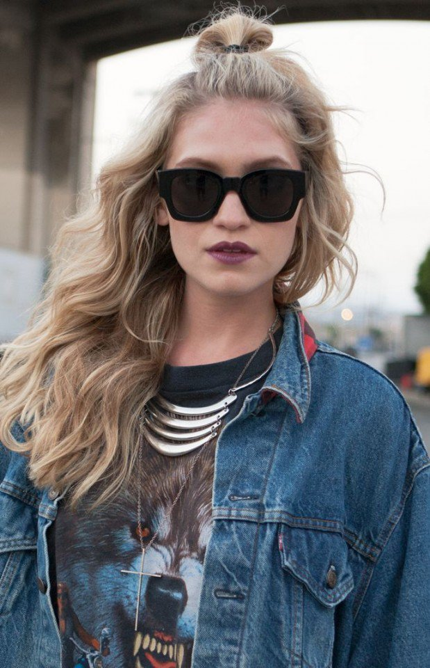 17 Trendy Half Bun Hairstyles for 2016 - Pretty Designs