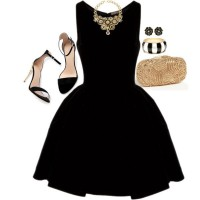 Night Out Outfit Idea - Black Dress