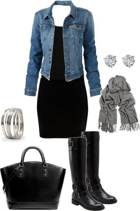 Night Out Outfit Idea - Denim Blazer