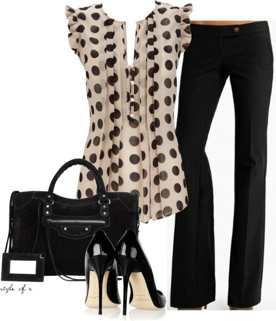 Night Out Outfit Idea - Polka Dot