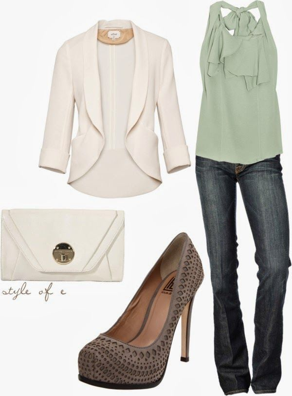 Night Out Outfit Idea - White Blazer