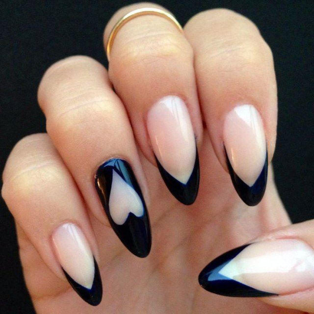 Nude and Clear Nail Design