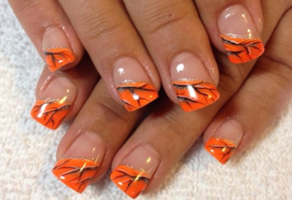 13 pretty camouflage nail designs pretty designs orange camouflage nail design prinsesfo Image collections