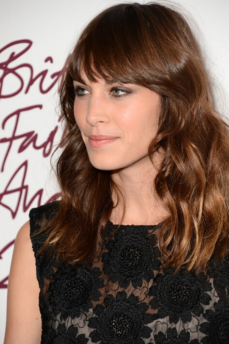 Celebrity Hair Idea For Fall Alexa Chung Long Wavy
