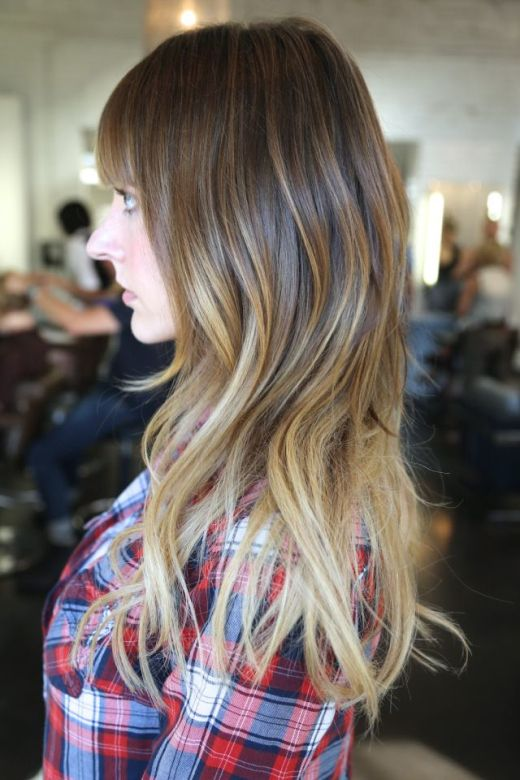 Pretty Ombre Hair Color Idea for Long Hair