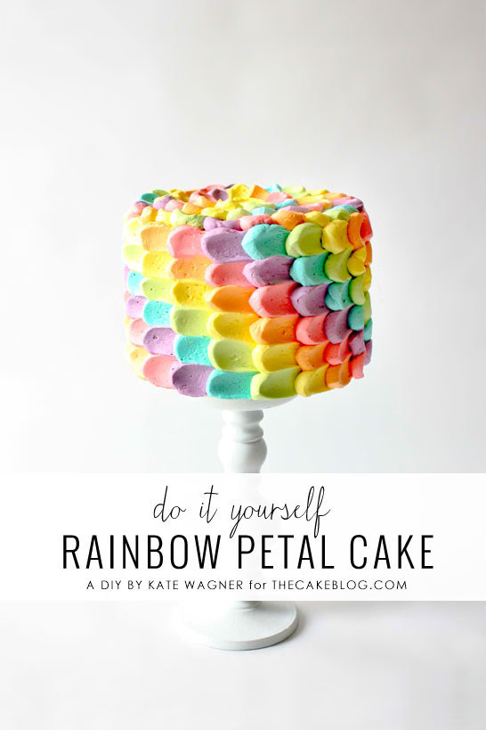 25 incredible cake decorating ideas pretty designs for Rainbow petals