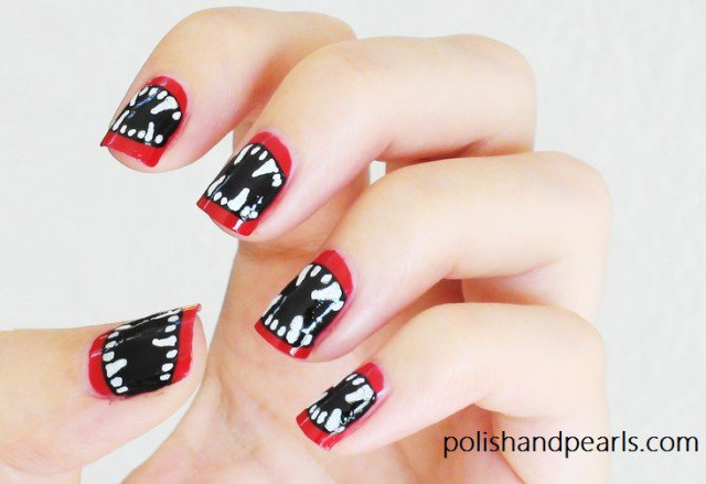 Red Halloween Nail Design