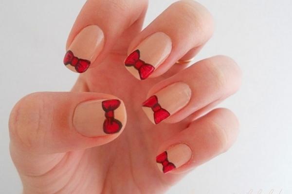 17 Cute Bow Nail Designs - Pretty Designs