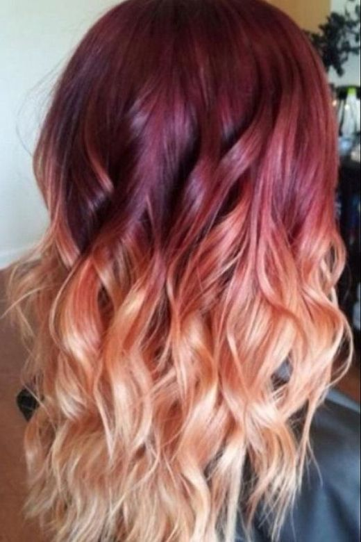 Ombre Hair Brown To Caramel To Blonde Medium Length 25 Ombre Hair Color Id...