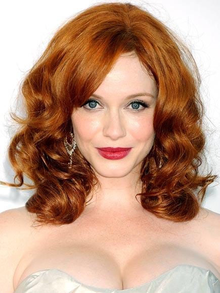 Shoulder-Length Red Curly Hair