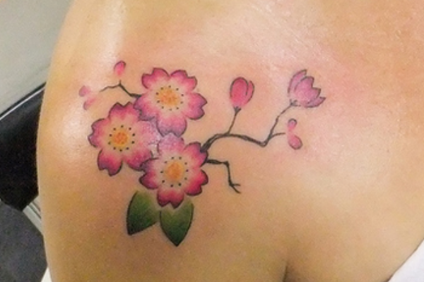 Small Cherry Blossom Tattoo
