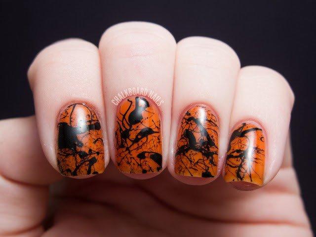 Splatter Halloween Nail Design