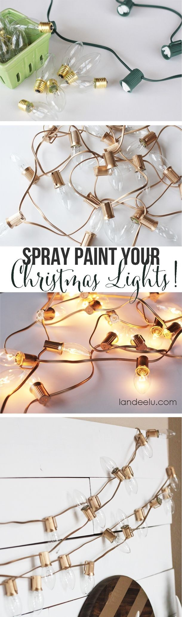 Spray paint holiday bulbs