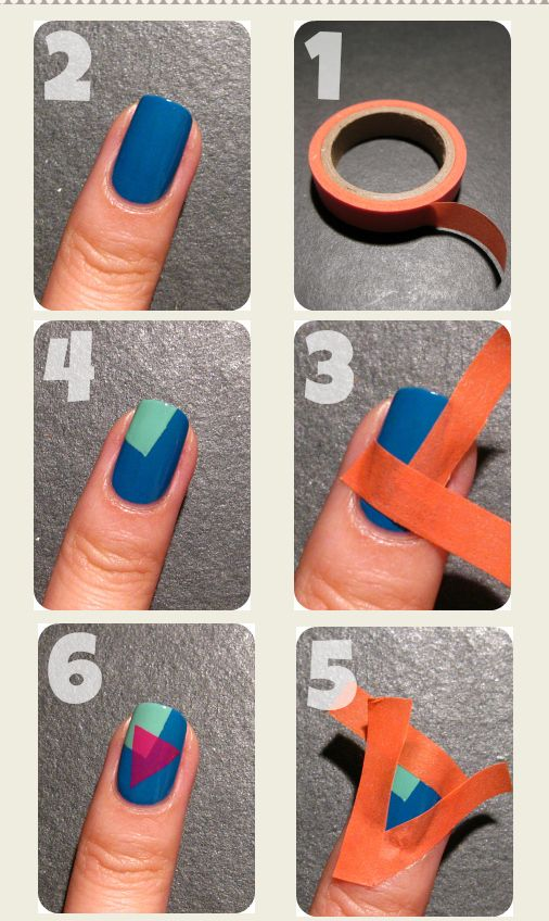 Stylish Nail Art - 15 Easy Nail Tutorials With Scotch Tape - Pretty Designs