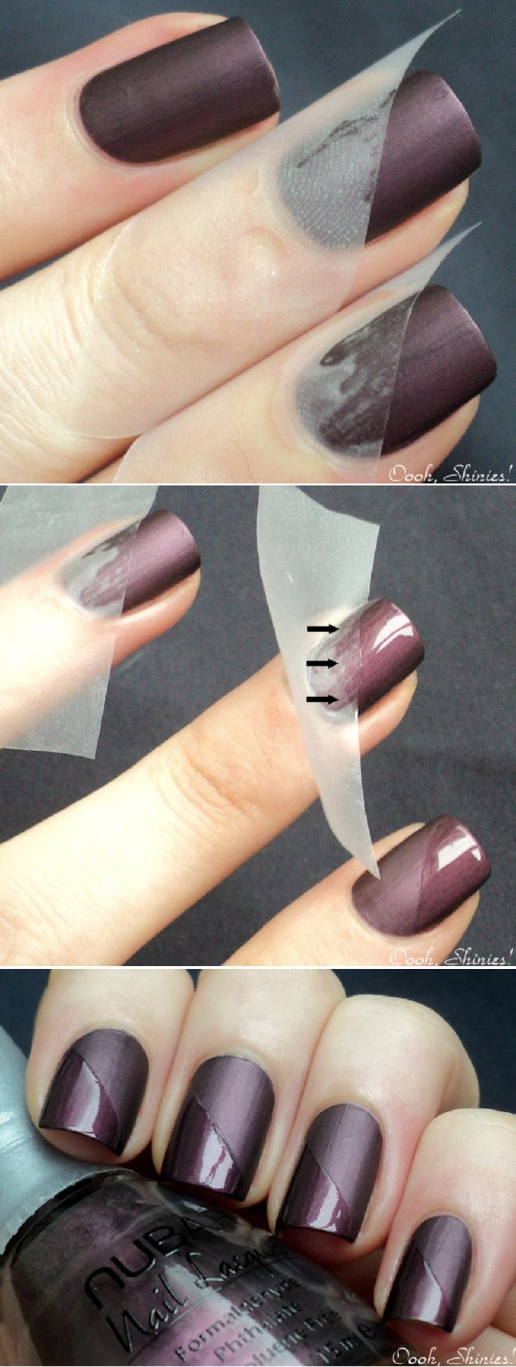 15 easy nail tutorials with scotch tape pretty designs taped mani tutorial prinsesfo Gallery