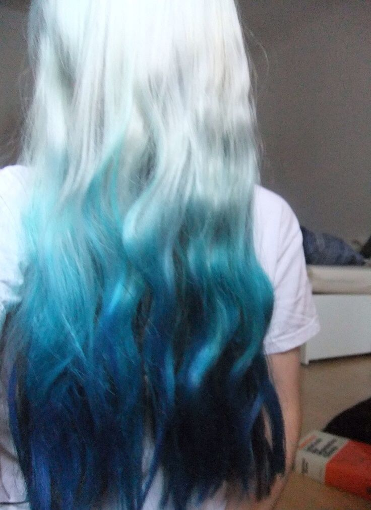 Turquoise Ombre Hair Color Idea