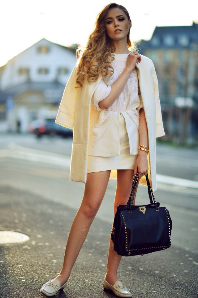 White Blazer and Loafers