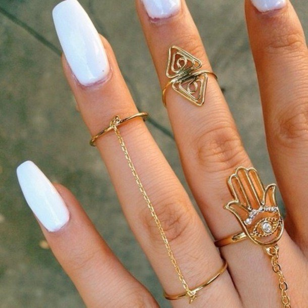 21 trendy nail art designs pretty designs white nail design prinsesfo Gallery