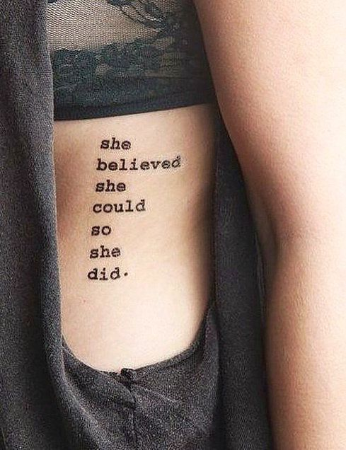 Inspirational Quote Tattoo