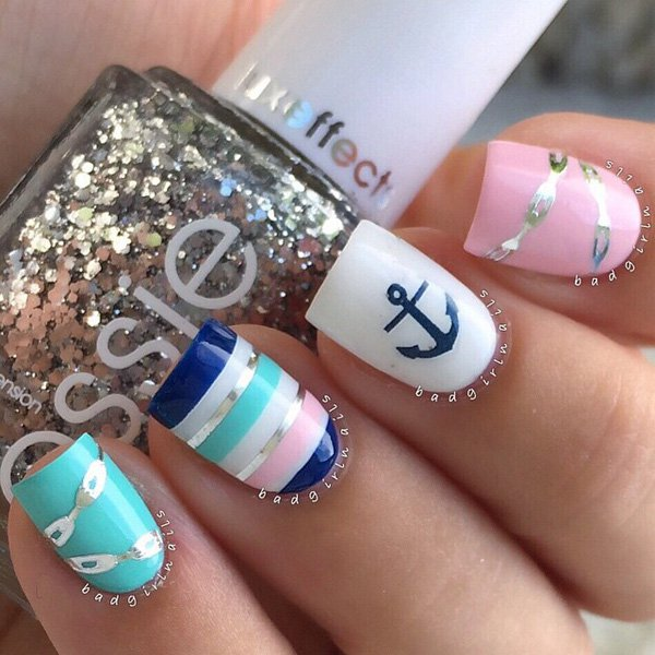 Anchor design on nails gallery nail art and nail design ideas 35 pretty nail designs for 2016 pretty designs anchor fall nail design prinsesfo gallery prinsesfo Gallery