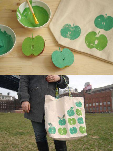 Apple-stamped Bag