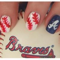 Atlanta Braves Baseball Nails
