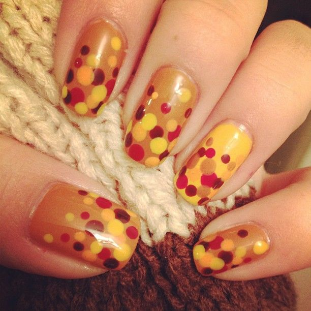 25 pretty nail art for fall pretty designs autumn nail art prinsesfo Image collections
