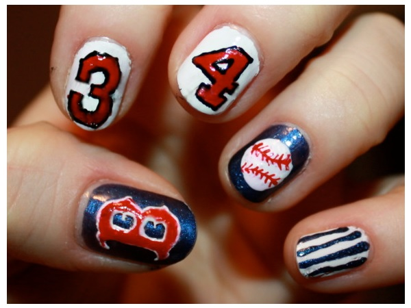 Baseball Nails with Numbers - 15 Sporty Baseball Nail Designs - Pretty Designs