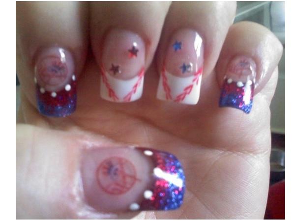 Baseball Nails With Stars