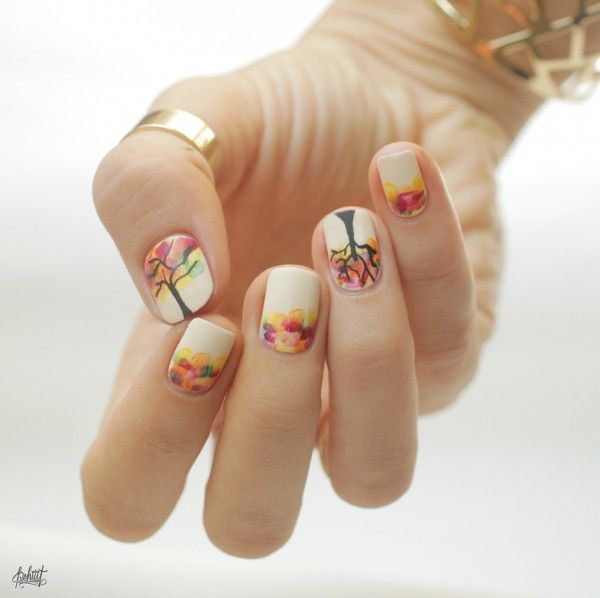 Beautiful Fall Nail Design