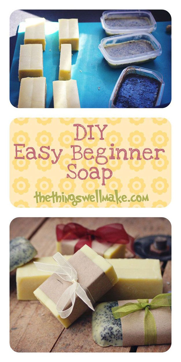 16 diy projects to make your own soap at home pretty designs for Diy crafts for beginners